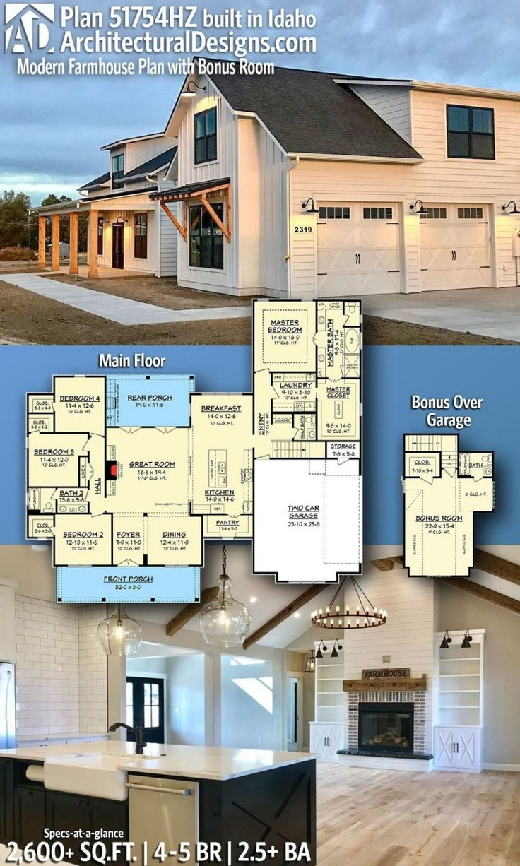 37 Architectural Designs Modern Farmhouse Plan –…
