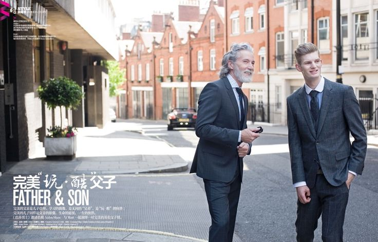 aiden shaw matt king 0001 Aiden Shaw & Matt King are Father & Son for Harpers Bazaar China