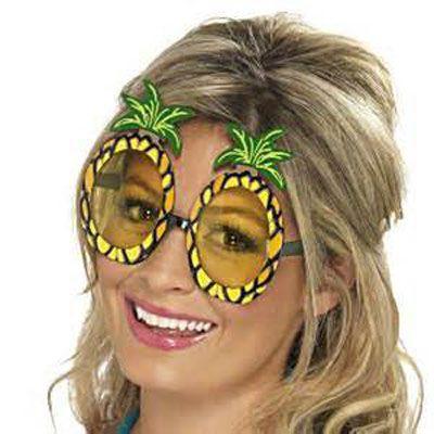 Beach Hawaiian Party Luau Pineapple Fancy Dress Costume Specs SunGlasses Glasses