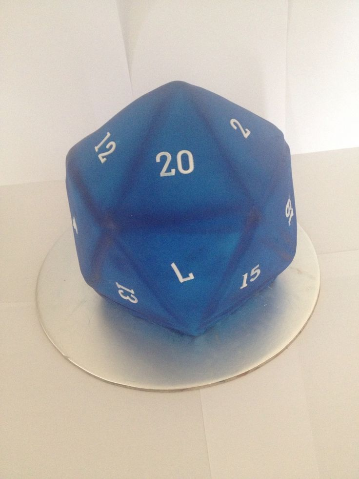 D20. Dungeons and Dragons 20 sided dice cake - made by Show Toppers.