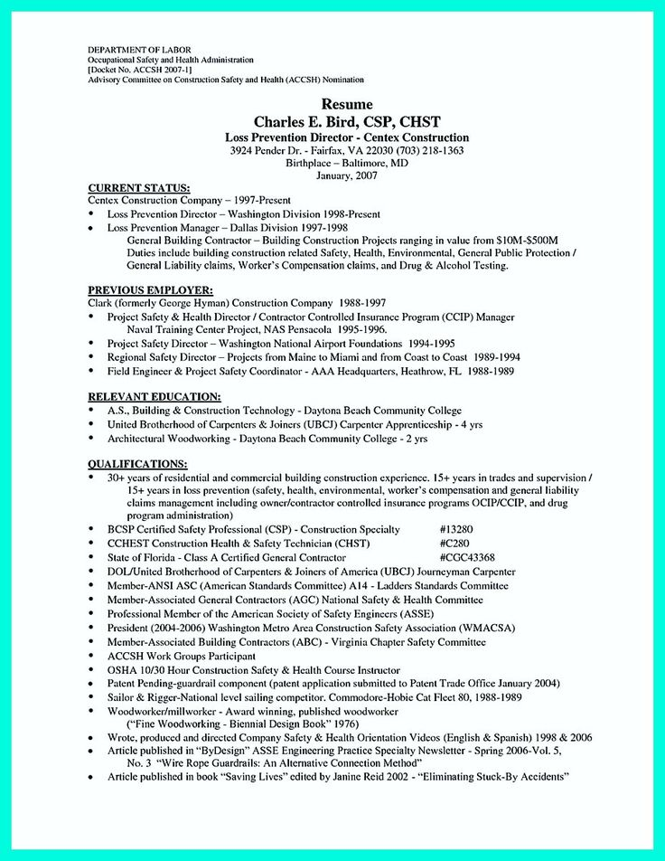 cool Construction Worker Resume Example to Get You Noticed, resume
