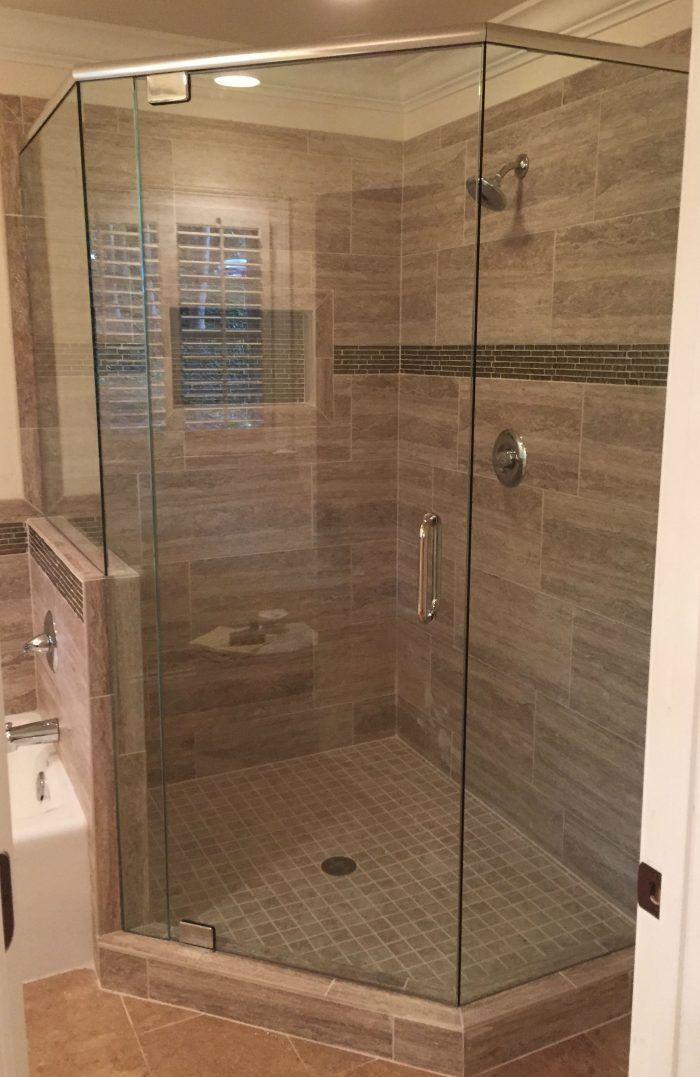 Frameless Showers With Header Frameless Shower Doors Frameless