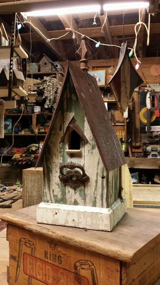 Birdhouse made from 1940's front porch floor boards!