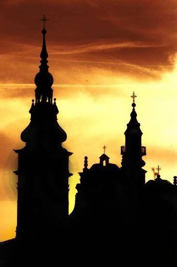 Tarnobrzeski #klasztor o zachodzie. #dominikanie #tarnobrzeg