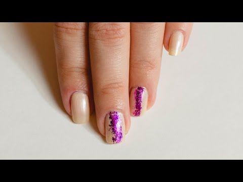Дизайн ногтей с переводной фольгой #2   Nail art - YouTube
