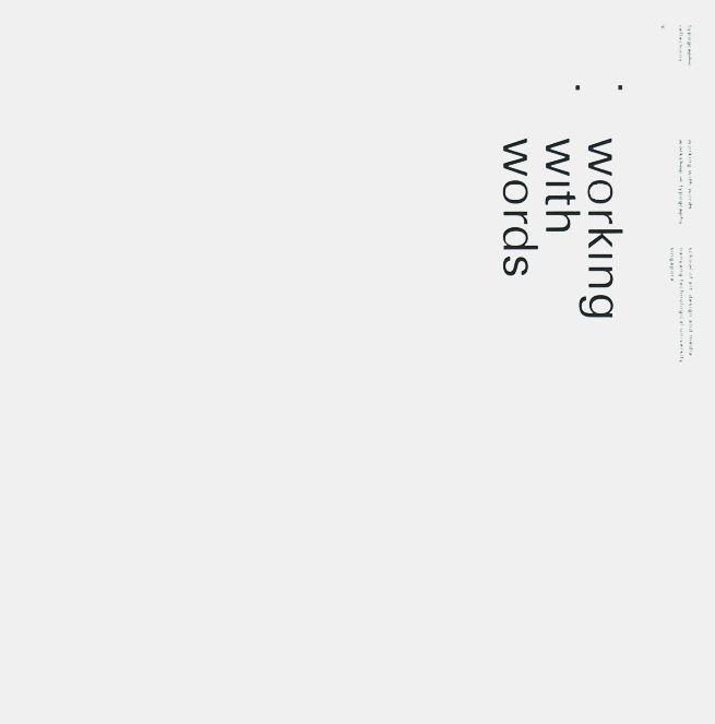 Helmut Schmid, typographic reflections 9