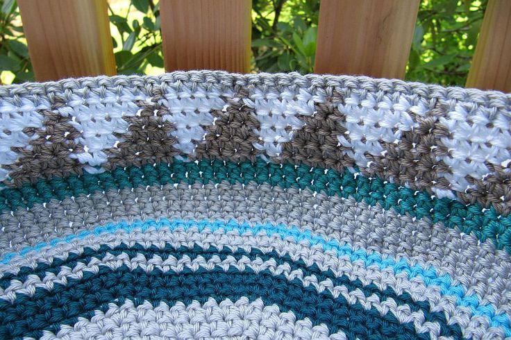 Taschen Crochetalong Sand und Meer Teil 1 Muster 1 von innen  schoenstricken.de