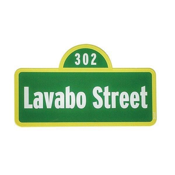Placa de Lavabo Street