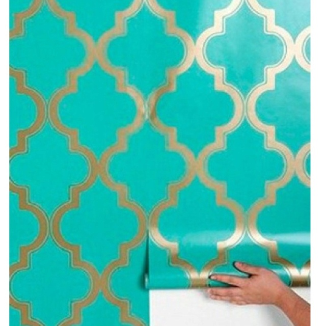 Morrocan style wallpaper from Urban Outfitters