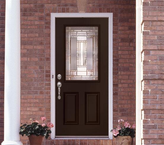 Feather River Door Entry Door Painted In Black Bean