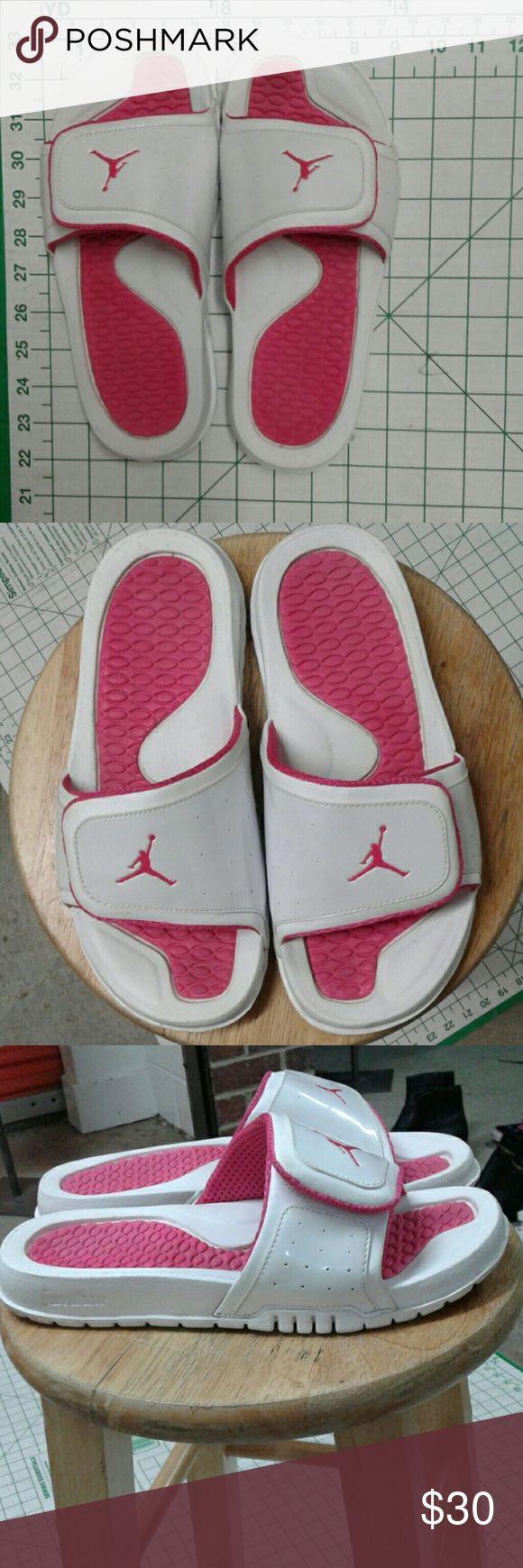 JORDAN flip flops Michael Jordan summertime girls flip flops like new very little wear. Nike Shoes Sandals & Flip Flops
