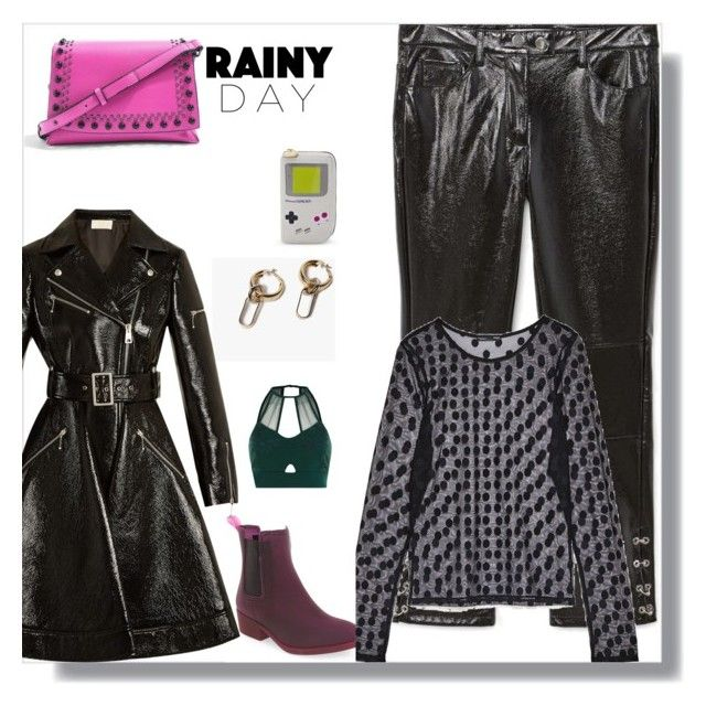 """Rainy days and Mondays need not make you sad"" by peeweevaaz ❤ liked on Polyvore featuring Jeffrey Campbell, MANGO, Topshop, Sara Battaglia, Nintendo, River Island, outfit, rainyday, polyvoreeditorial and WardrobeStaples"