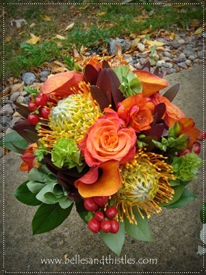 Fall Bridesmaids Bouquet, Adore