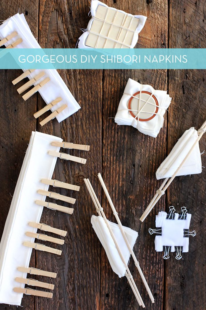 Curbly.com: DIY How-To: Beautiful (And Easy!) Shibori Napkins