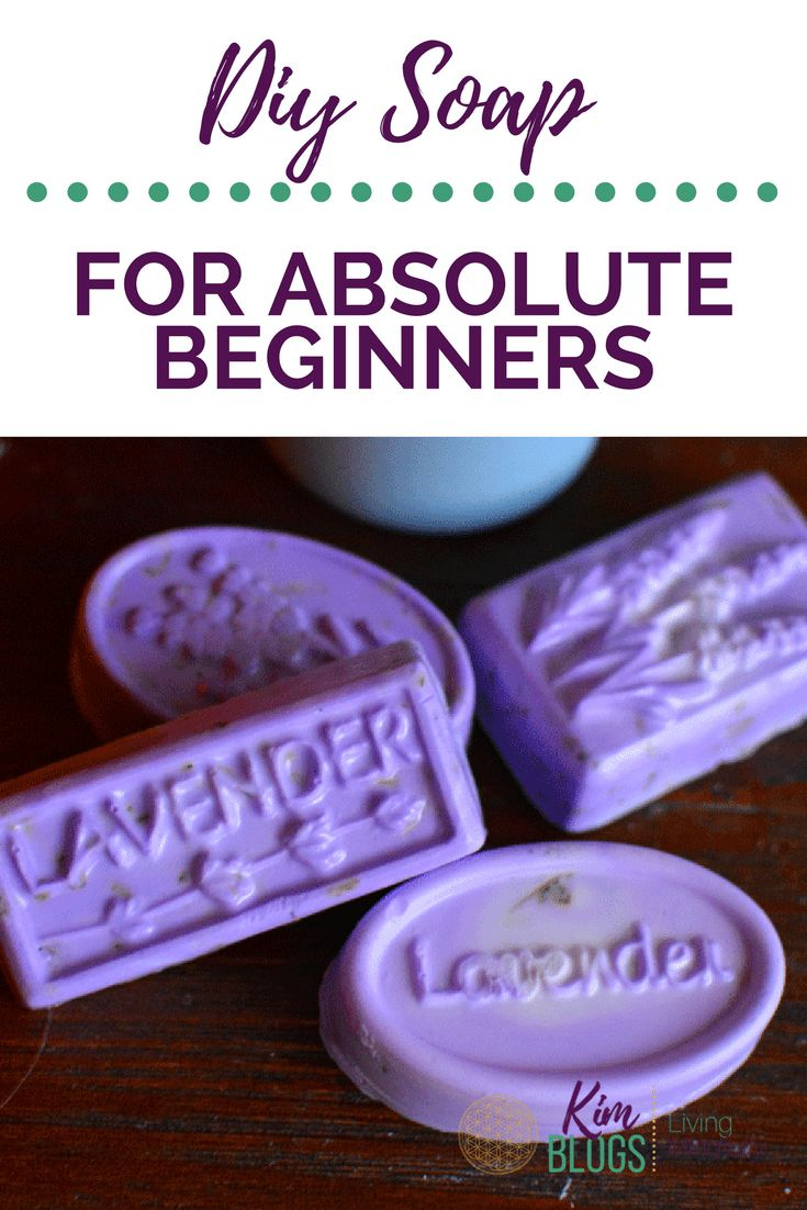 DIY Soap For Absolute Beginners - Wow! This was super easy to make. This includes: fresh lavender leaves, purple colorant and fresh lavender scent. My new fav. hobby. www.KimBlogs.com