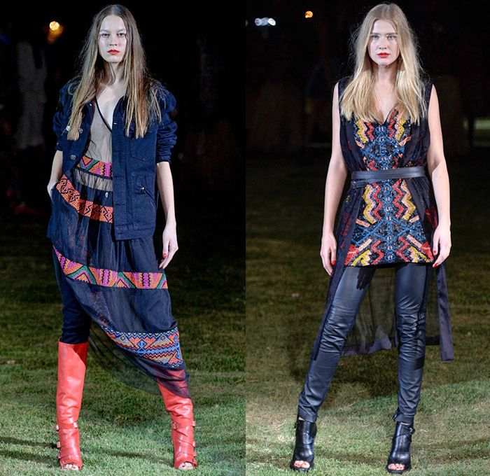1000+ images about Denim Runways Womens 2016 Summer South ...