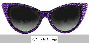 Bling Cat Eye Sunglasses - 159 Purple