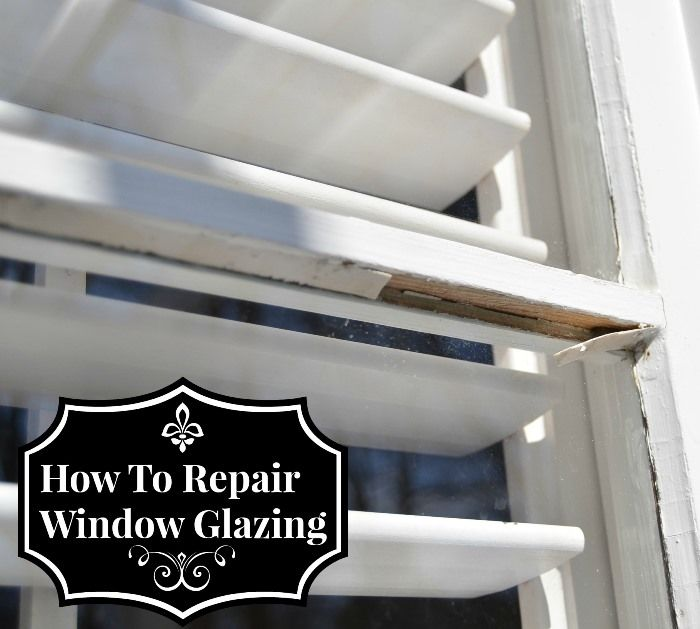 How to Repair Chipped or Missing Window Glazing by Between Naps on the Porch