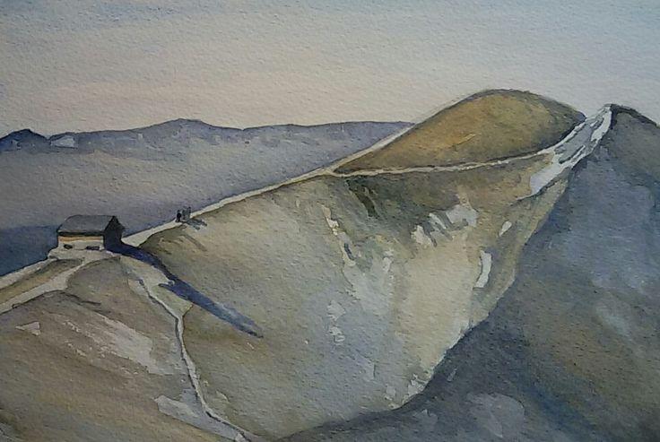 Rifugio Duca degli Abruzzi, watercolours