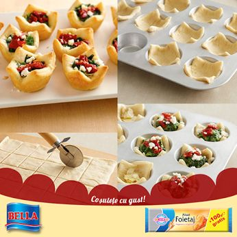 Aceste cosulete sunt foarte usor de realizat si de preparat cu ingredientele preferate.  Iata cum se realizeaza aceste cosulete delicioase din aluat foitaj Bella: http://lumeaplacintelor.bellafood.ro/2015/04/cosulete-din-aluat-foitaj-bella/