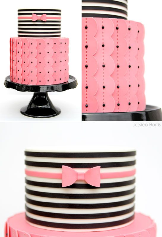 Cake Decorating Fondant Stripes : 17 Best images about CAKES BRIGHT/ BOLD on Pinterest Red ...