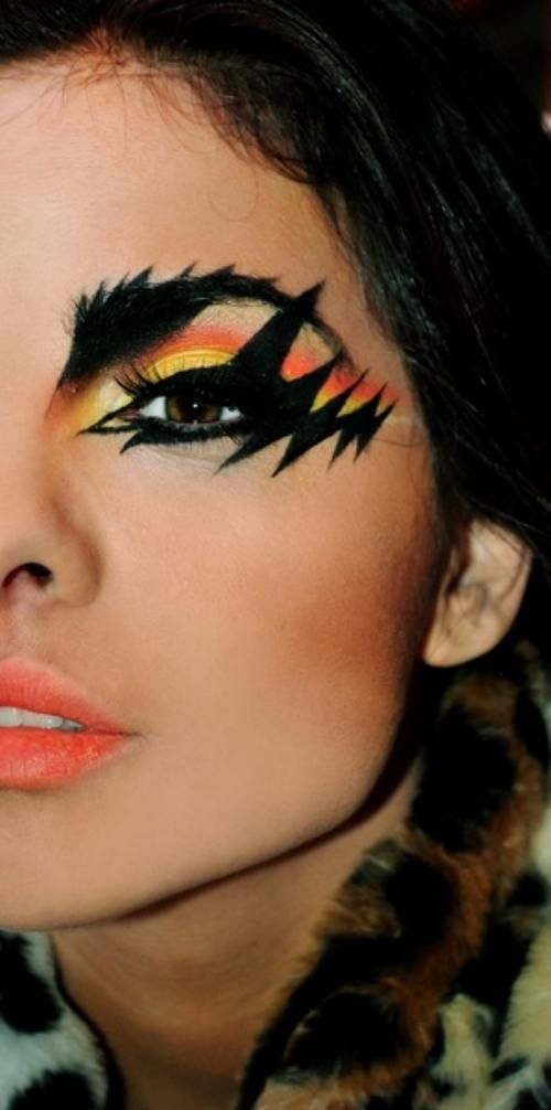 Lady Gaga called and wants me to wear my eye make-up like this to the Born This Way Ball.