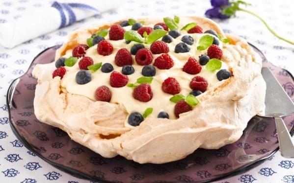 Oppskrift på dessert Pavlova kake, foto: Synøve Dreyer