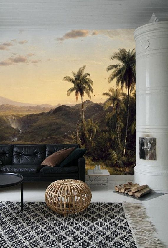 Panoramic Wallpaper Mural Old Painting Landscape Mural Th Century French Italian Flemish Painting Scenic Wallpaper Peelstick