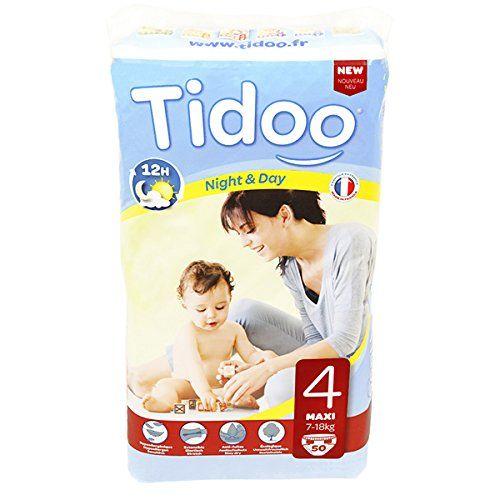 Tidoo 50 couches Taille 4 : Maxi 7 18Kg: Parce que les mamans veulent désormais concilier sécurité, tranquillité et protection de la…