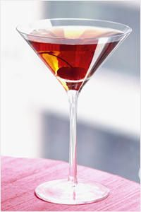I prefer my Manhattan well balanced, Bullet Rye whiskey, and in a low ball glass, on the rocks...