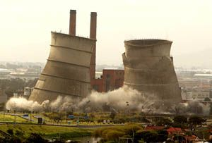 Demolition of Athlone Towers symbolises a move to cleaner energy