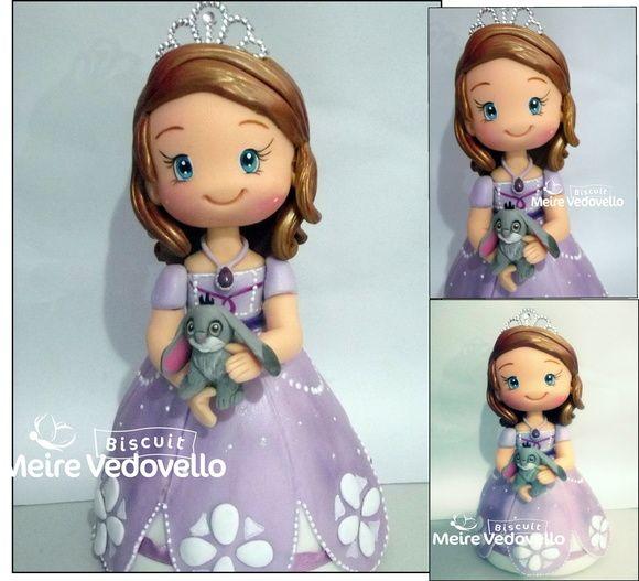 princesinha Sofia topo de bolo