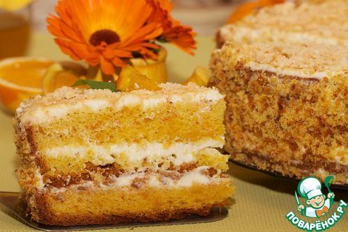 Апельсиновый бисквит для торта - кулинарный рецепт