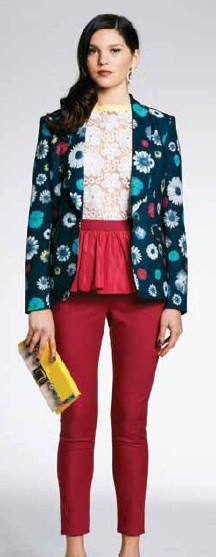 Minty Meets Munt Floral Print Crepe Blazer - We are in love with the unique print of this blazer! Perfect to wear over a basic dress or with your favourite tee & jeans $179