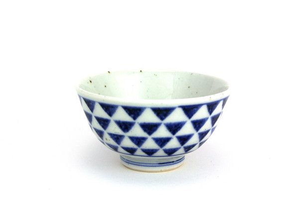 Tobe-yaki Ceramic Bowl - Triangles