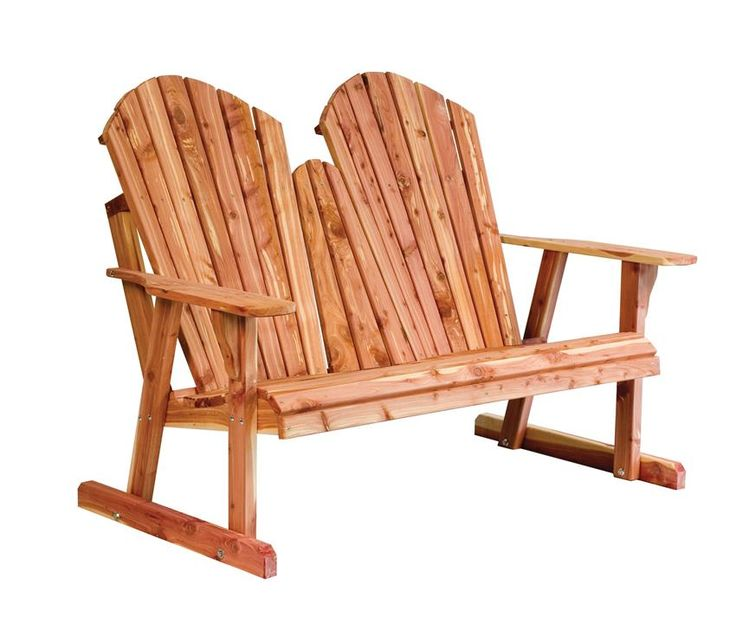 Amish Cedar Wood Adirondack Loveseat Bench Lean back and get comfortable outside with the Amish Cedar Wood Adirondack Loveseat Bench. Aromatic red cedar wood makes for a natural and gorgeous display.
