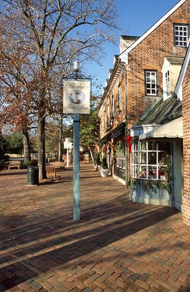Merchants Square, Williamsburg, VA. Though I would have preferred under 100 degree weather that day.