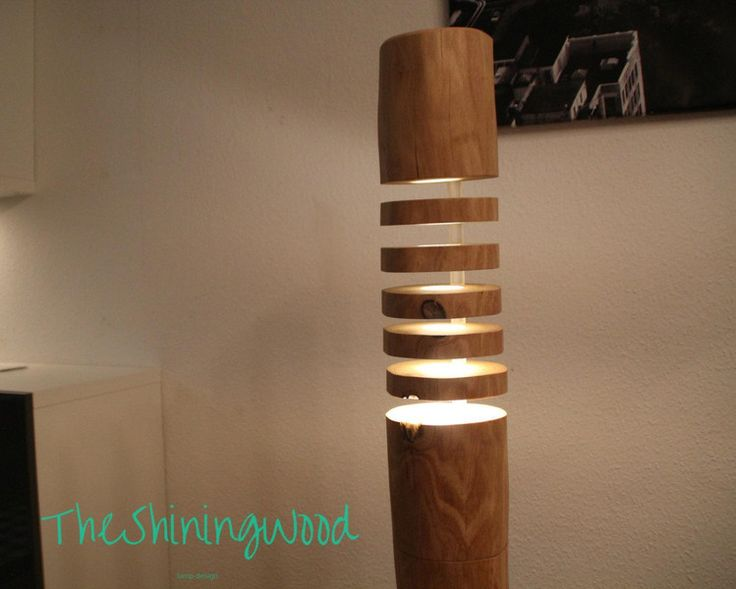 Design No4 Stehlampe aus Massivholz LED RGBWW von The-Shining-Wood auf DaWanda.com