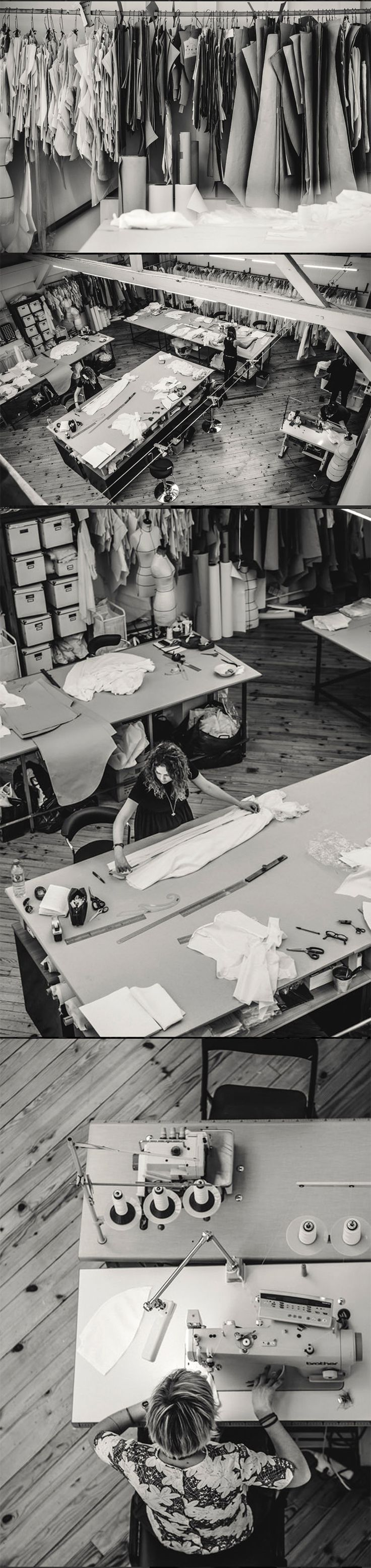Laure de Sagazan  #workspace #fashion #atelier                                                                                                                                                                                 More