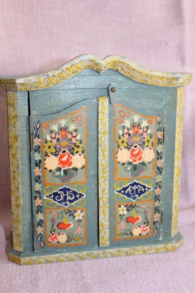 Amazing Puppenstube m bel alte Bauernm bel mit alter bemalung eBay Folk Bauernm bel for the dollhouse Pinterest Dollhouses and Folk