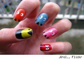 Pac Man nails ( '< (lol, that's supposed to be pacman)