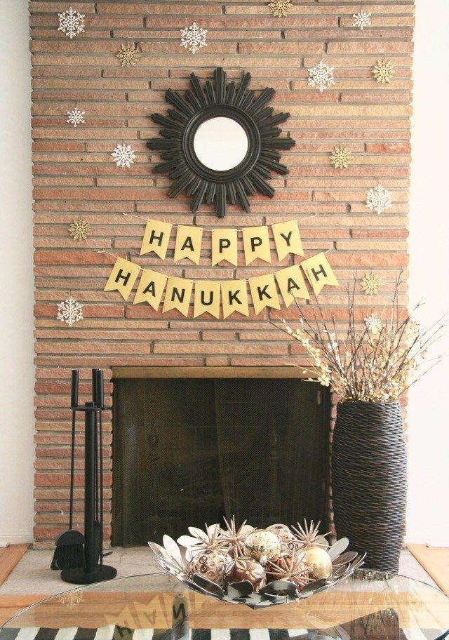 68 best images about celebrate hanukkah on pinterest for Hanukkah home decorations