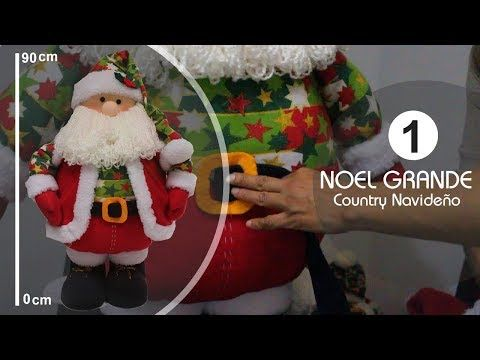 Noel Grande Decorativo 90 Cm 1 Parte -SamiManualidades - YouTube