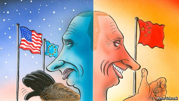 Cold climate: As relations with Europe and America freeze over, Putin looks to China