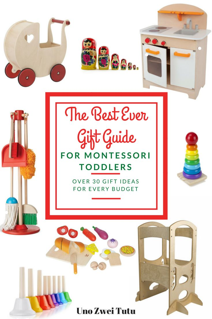 Are you looking for gift ideas for your kids? Here are more than 30 gift ideas for 2 and 3 year olds. This gift guide contains the best toys for Montessori toddlers and preschoolers.