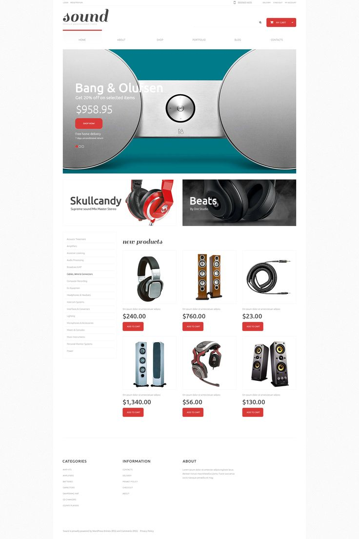 Audio Store Responsive WooCommerce Theme. Additional features, comprehensive documentation and stock photos are included.