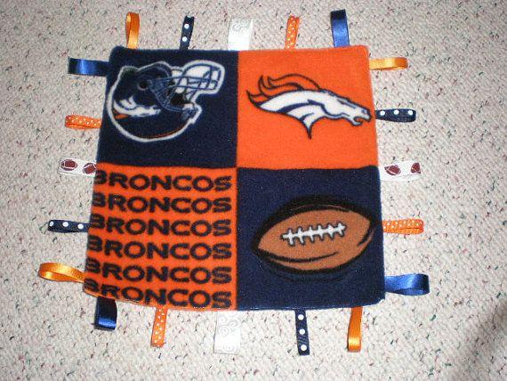Denver Broncos Baby Blanket by GrandmaTsCrafts on Etsy, $10.00