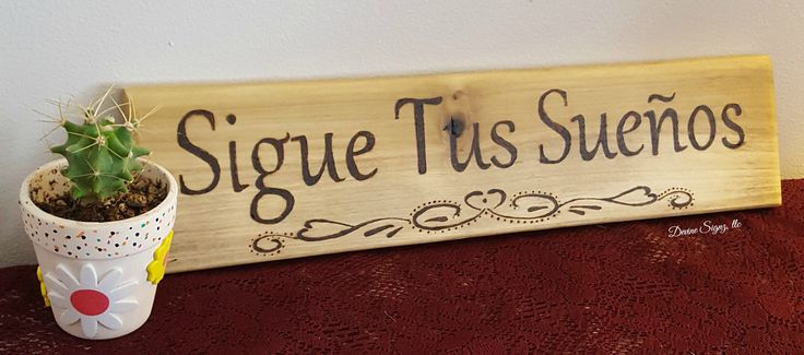 "Spanish Home Decor- Spanish sign that says ""Sigue Tus Suenos""-Spanish sayings and Quotes-graduation gift- home and living-Home Decor-gift by DevineSignz on Etsy"