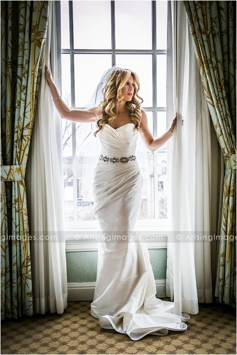Beautiful bride portrait. Wedding photography at The Royal Park Hotel, Michigan.