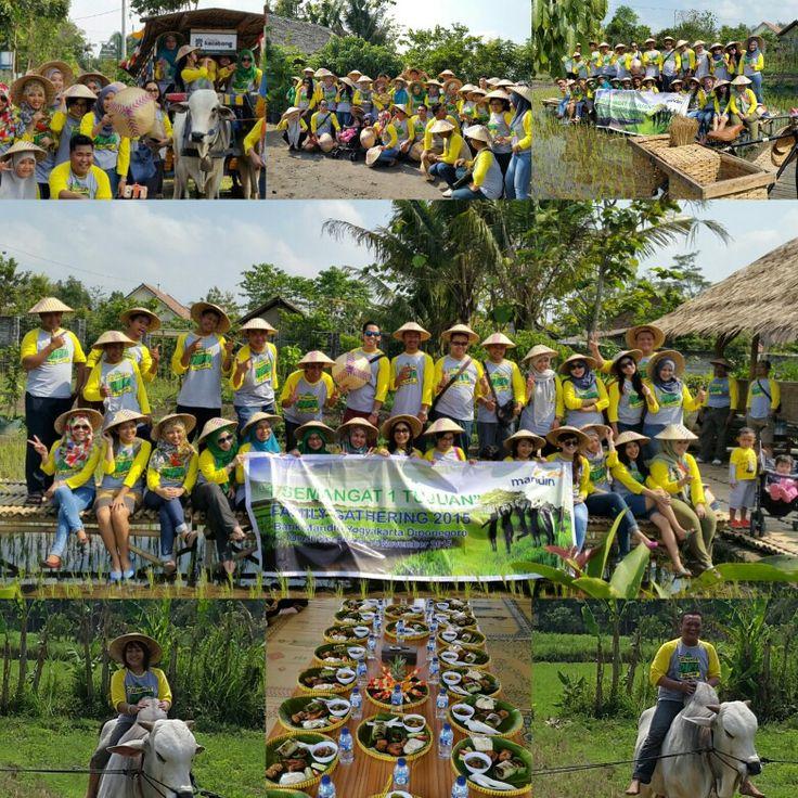1 Semangat 1 Tujuan, Family Gathering Bank Mandiri Yogyakarta Diponegoro di Omah kecebong